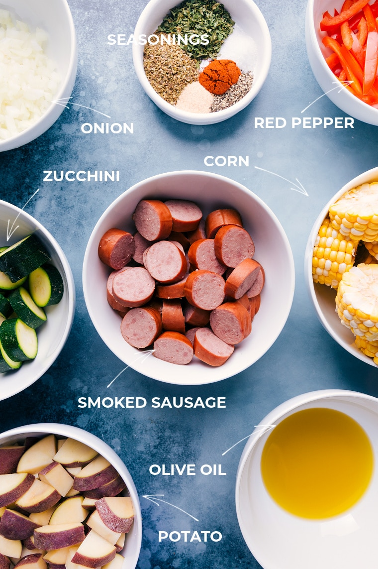 Ingredient shots-- images of all the ingredients that go into this meal