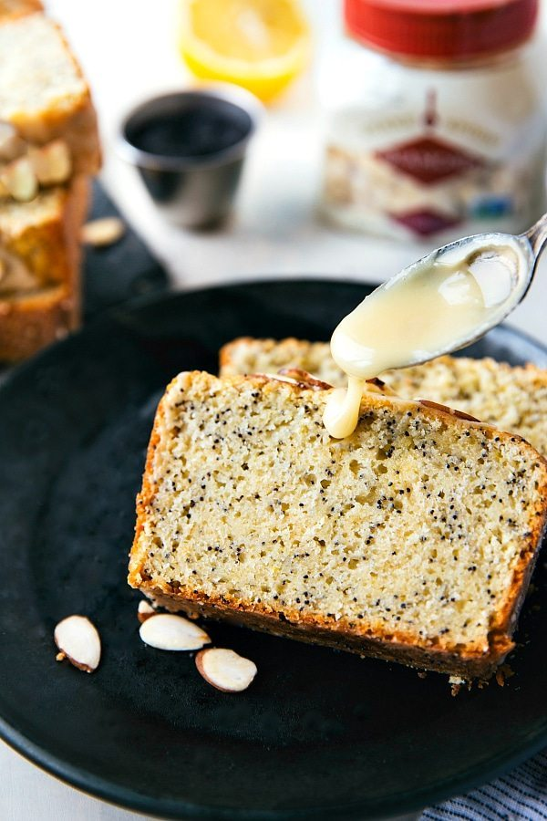 A healthier take on lemon poppyseed bread! This greek yogurt lemon poppyseed bread is made with better-for-you (but still simple) ingredients! Recipe from chelseasmessyapron.com