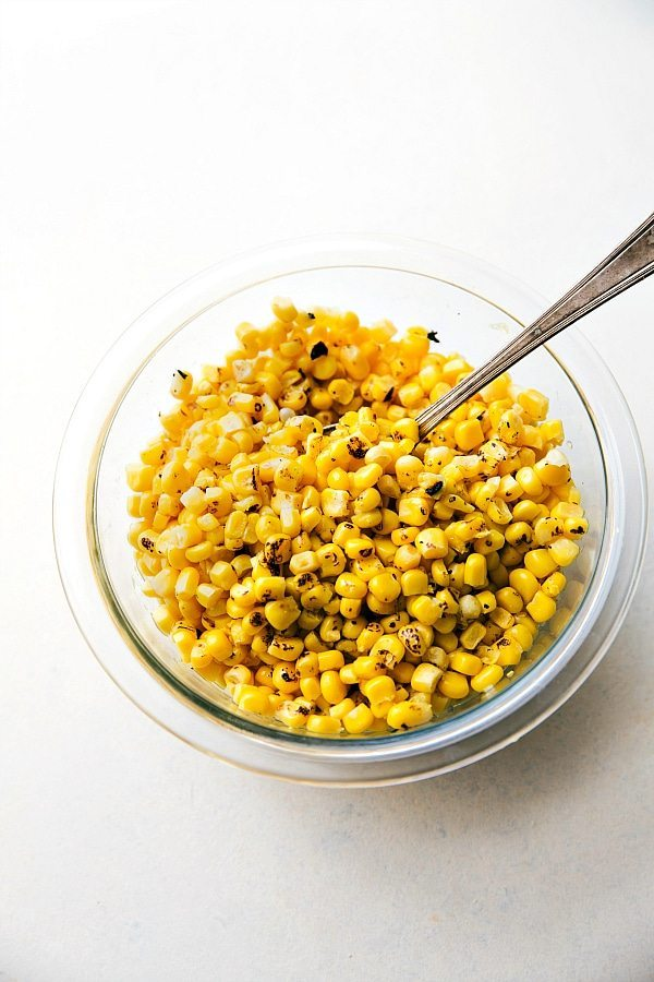 Up close photo of roasted corn