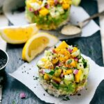 DELICIOUS Tuna %22Sushi%22 Stacks -- easy, healthy, delicious! Recipe via chelseasmessyapron.com