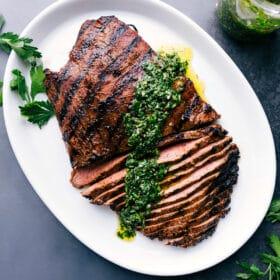 Flank Steak with Corn Salsa