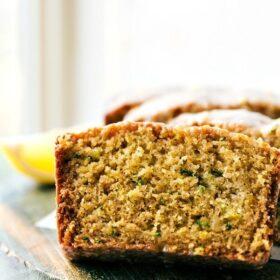 Healthier Lemon GREEK YOGURT Zucchini Bread from chelseasmessyapron.com