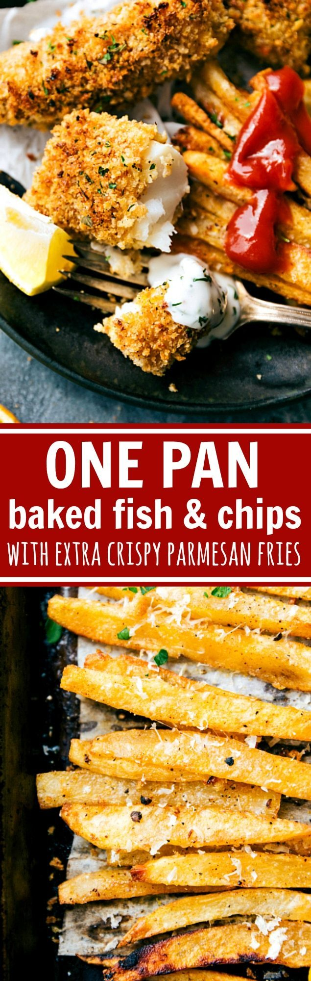 One Pan Easy Baked Fish And Chips Chelseas Messy Apron Mothers Corn Enjoy Fishing Twin Bowl A Quick Delicious Take On All Just