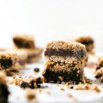 NO BAKE HEALTHY CHOCOLATE PEANUT BUTTER FUDGE BARS
