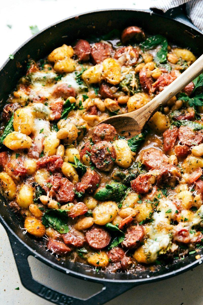 White apron meats - One Skillet White Bean Gnocchi