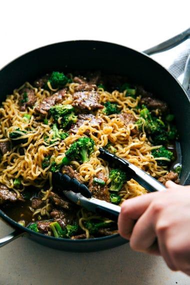 Skillet Beef and Broccoli Ramen