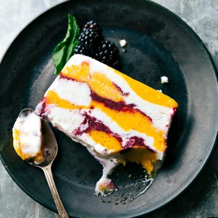 5-ingredient Frozen Sorbet Slice