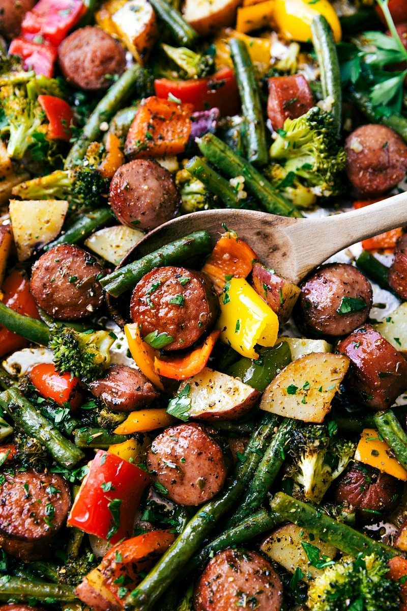 Sausage With Vegetables Recipe
