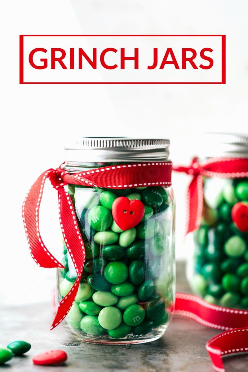 four easy and creative christmas mason jar treatgift ideas a grinch jar