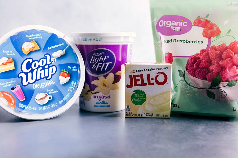Photo of the ingredients for Raspberry Fluff.