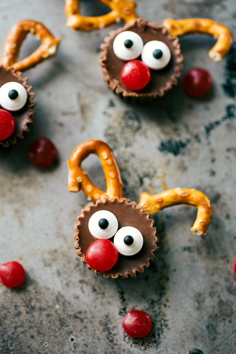 Image of the Reindeer Bites that go along with these Christmas treats