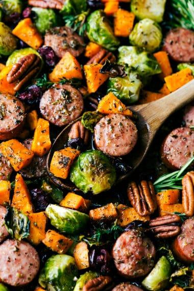 One Pan Harvest Sausage and Veggies