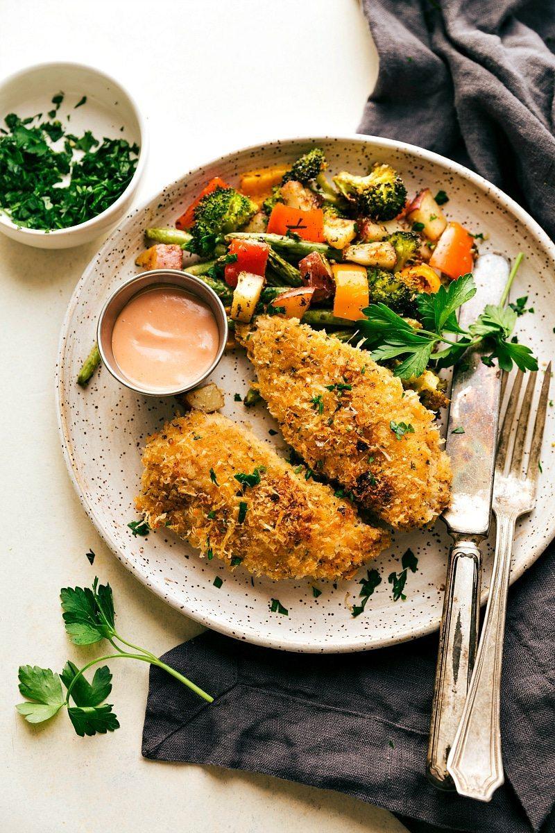 one-pan-parmesan-chicken-veggies