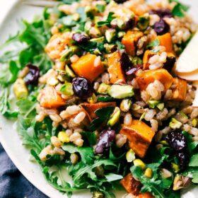 Sweet Potato Farro Salad