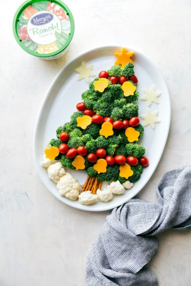 Holiday Veggie Platters (Christmas Tree & Ornament)