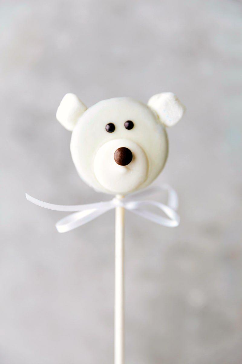 Image of the polar bear Oreo pop
