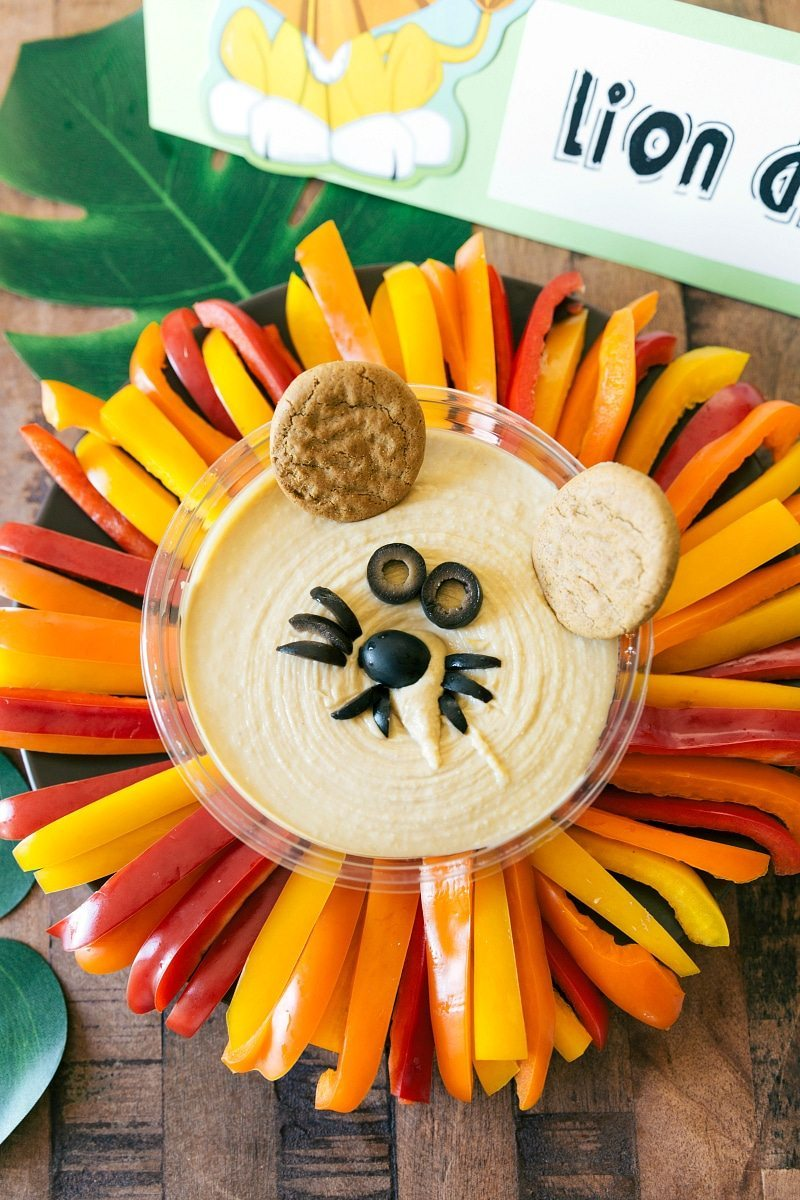 Jungle Party Lion Hummus Dip