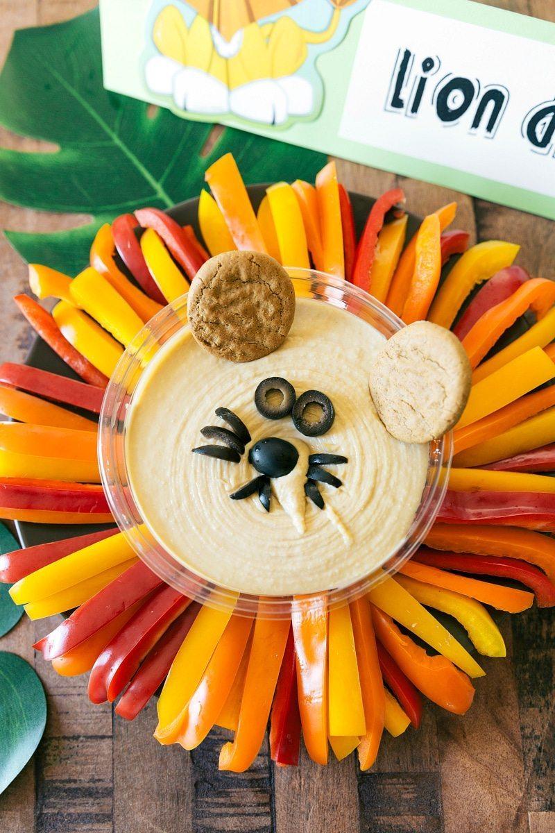Jungle Party Lion Hummus Dip
