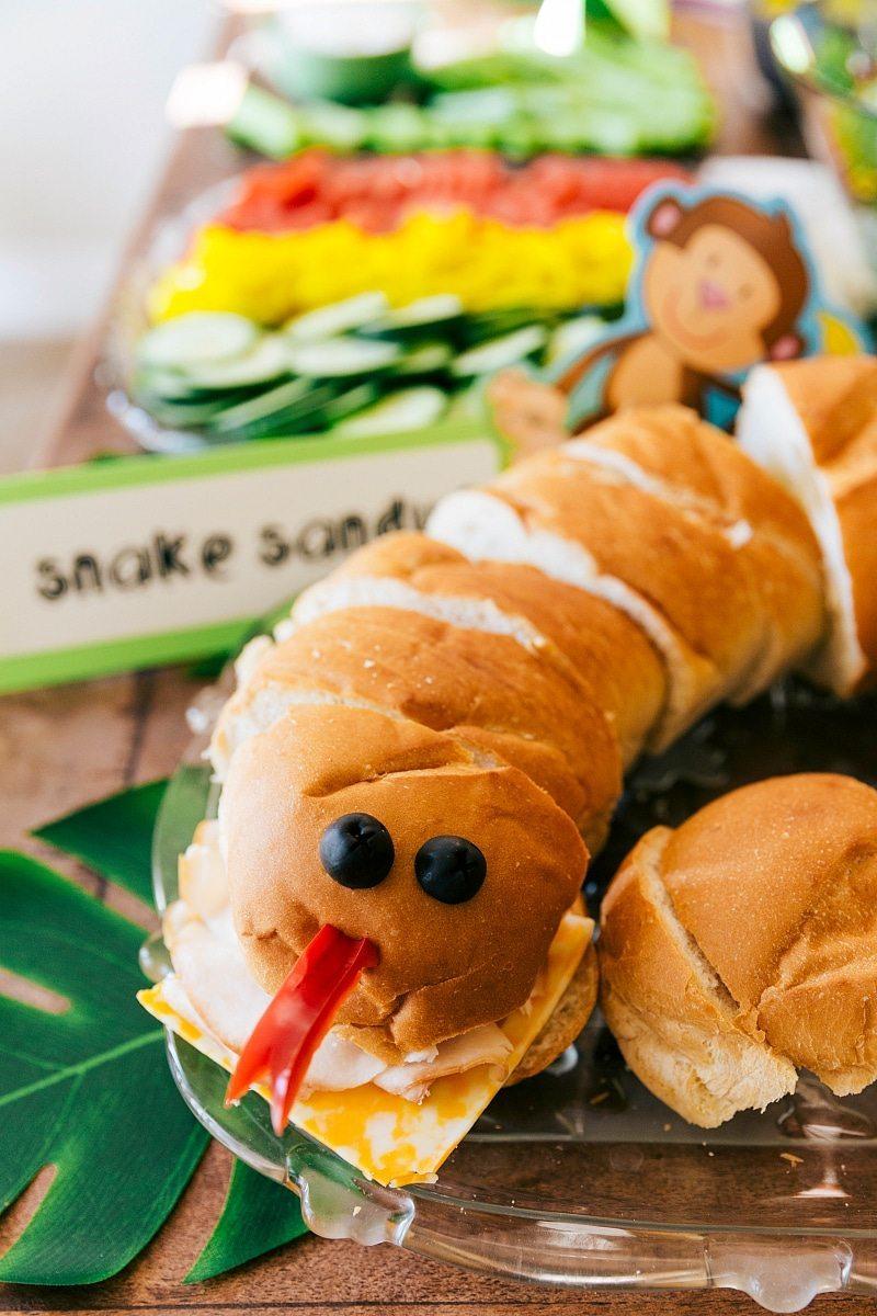 Jungle Party Snake Sandwich