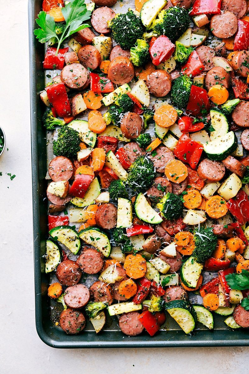 One Pan Healthy Italian Sausage Amp Veggies Chelsea S