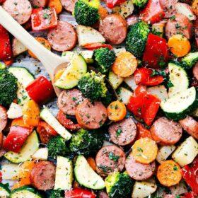 One Pan Healthy Italian Sausage & Veggies