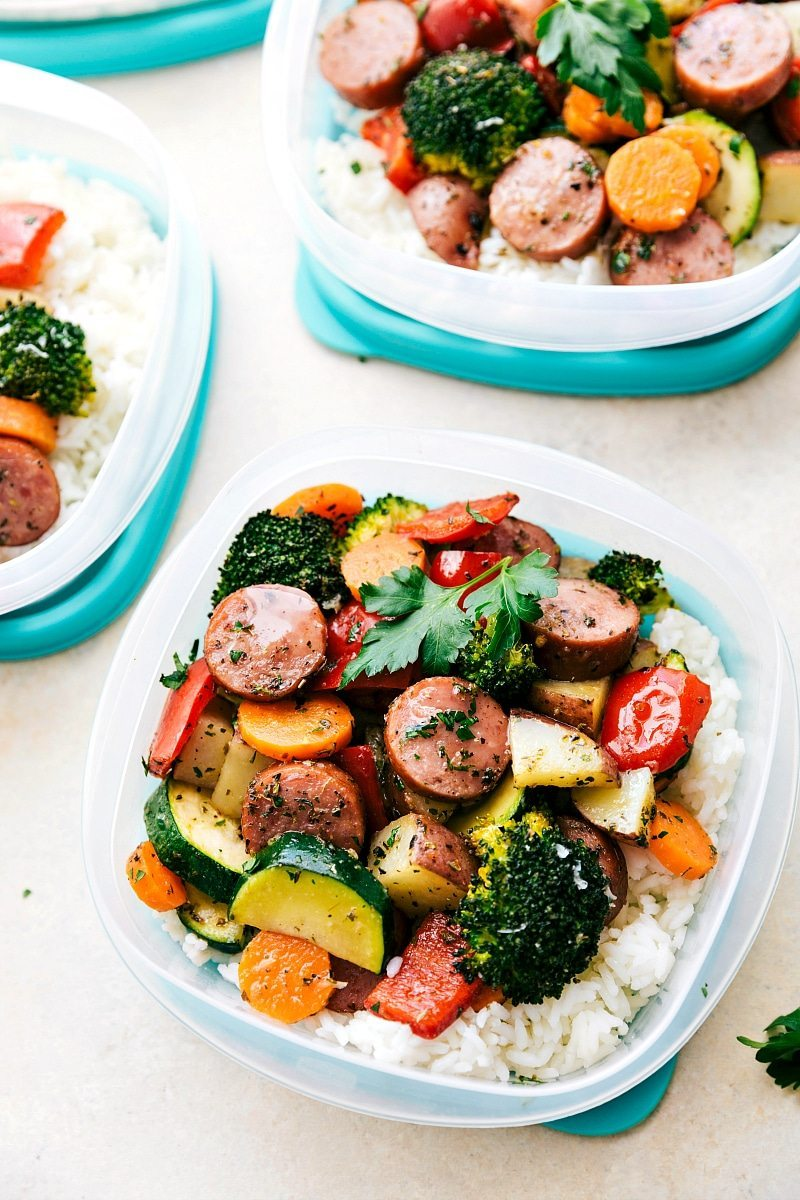 One pan healthy italian sausage veggies chelsea 39 s for Italian meals