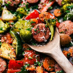 One Pan Italian Sausage and Veggies