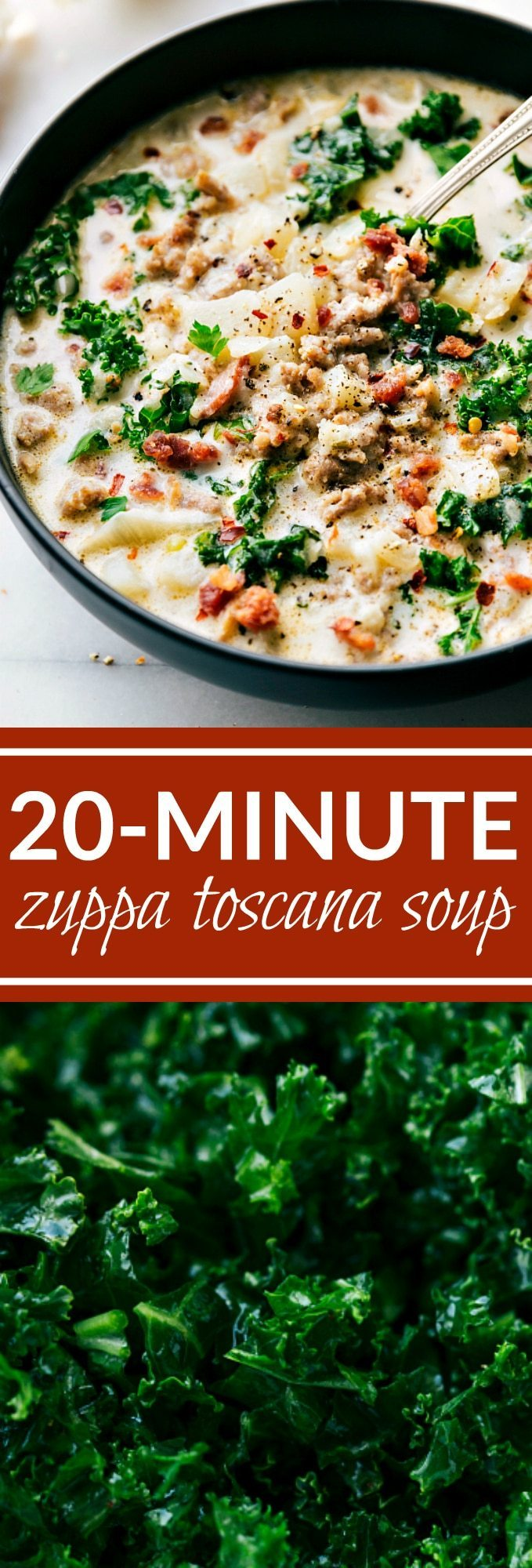 A copycat of the famous Olive Garden's Zuppa Toscana soup made in 20 minutes or less. via chelseasmessyapron.com