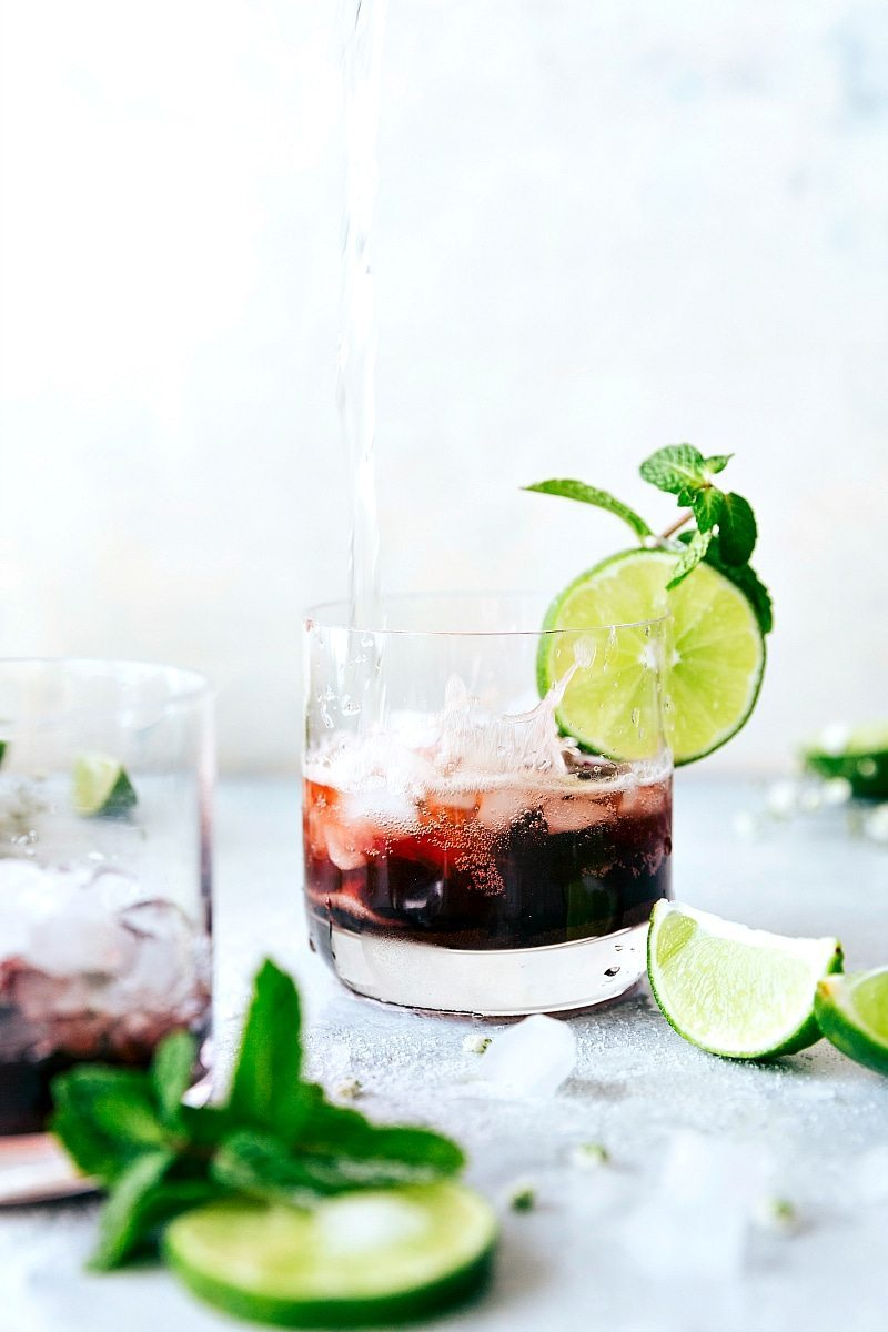 Easy TART CHERRY SPRITZER! An easy to make and tasty mock-tail Recipe via chelseasmessyapron.com