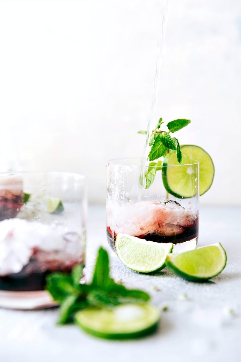 CHERRY LIME SPRITZER! An easy to make and tasty mock-tail Recipe via chelseasmessyapron.com