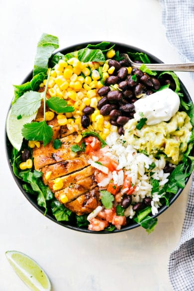 Chicken Burrito Bowls (Meal Prep)