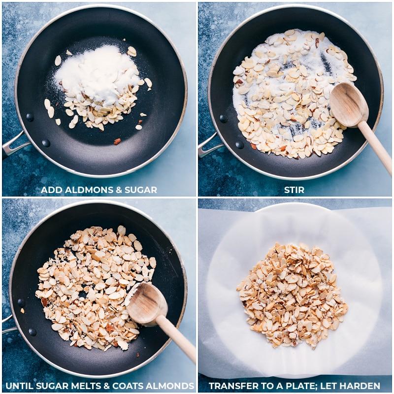 Process shots: making candied almonds