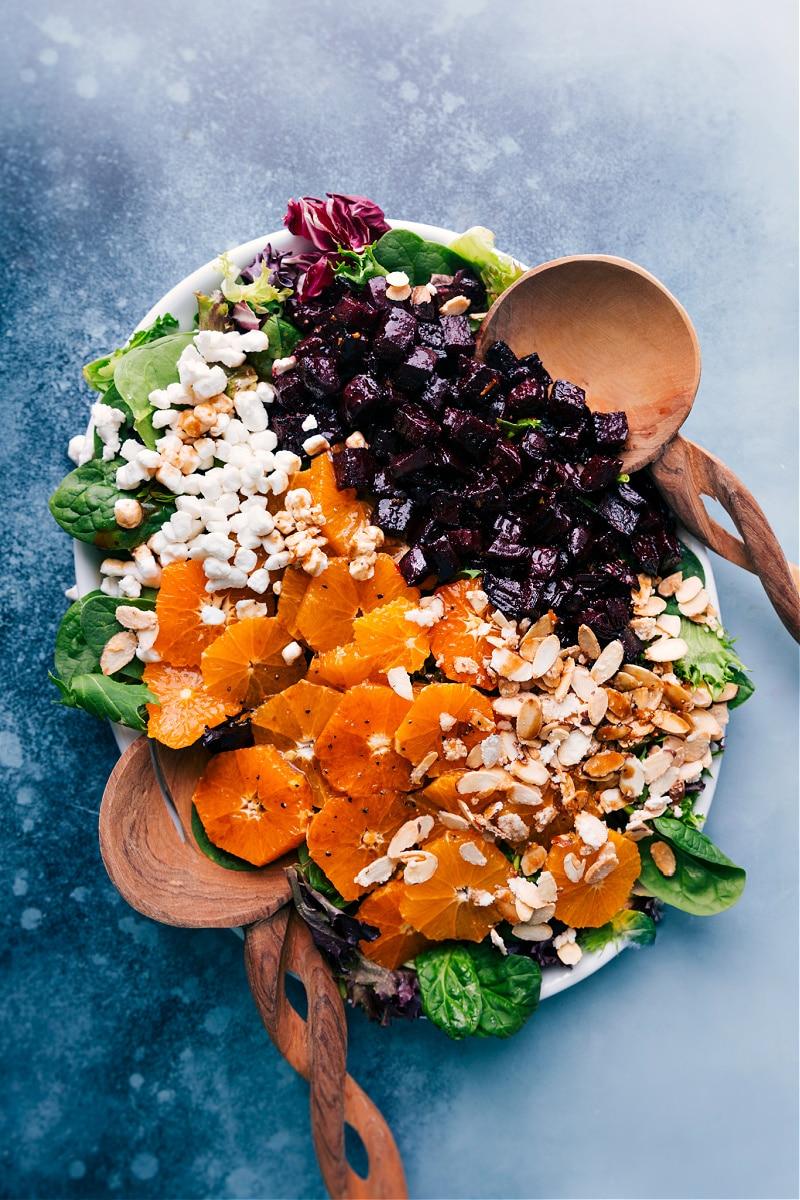 Beet Salad overhead view