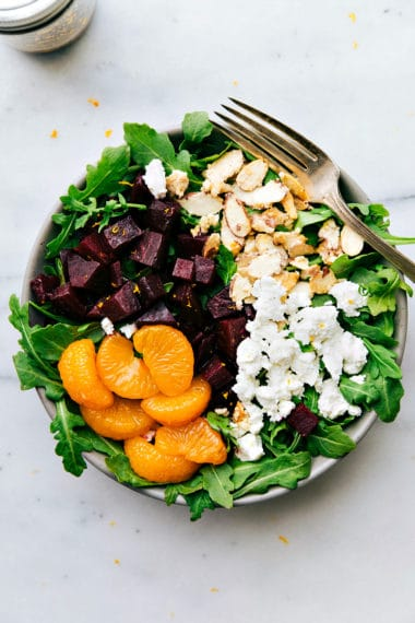 Roasted Beet and Goat Cheese Salad with Balsamic Vinaigrette