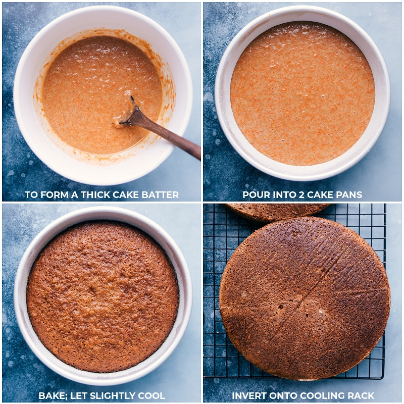Process shots: baking the Carrot Cake