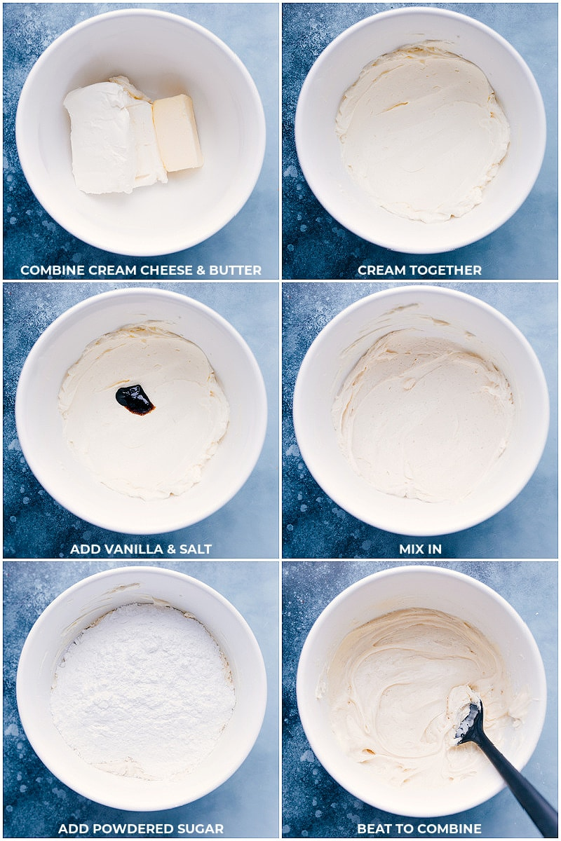 Process shots: making the cream cheese frosting