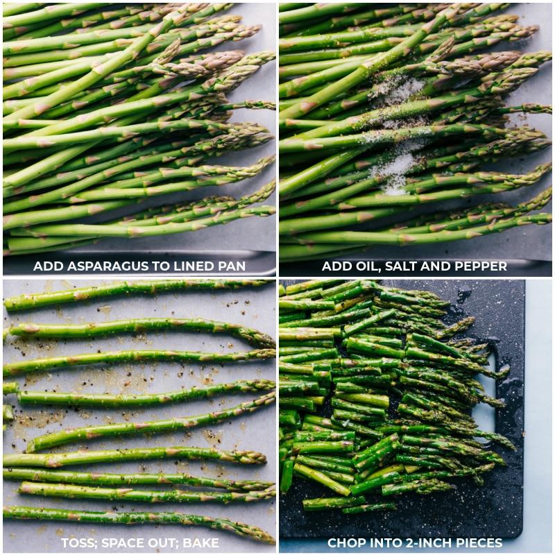 Process shot: roasting asparagus