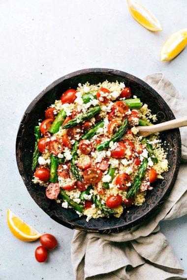 Roasted Asparagus, Tomato, & Feta Couscous