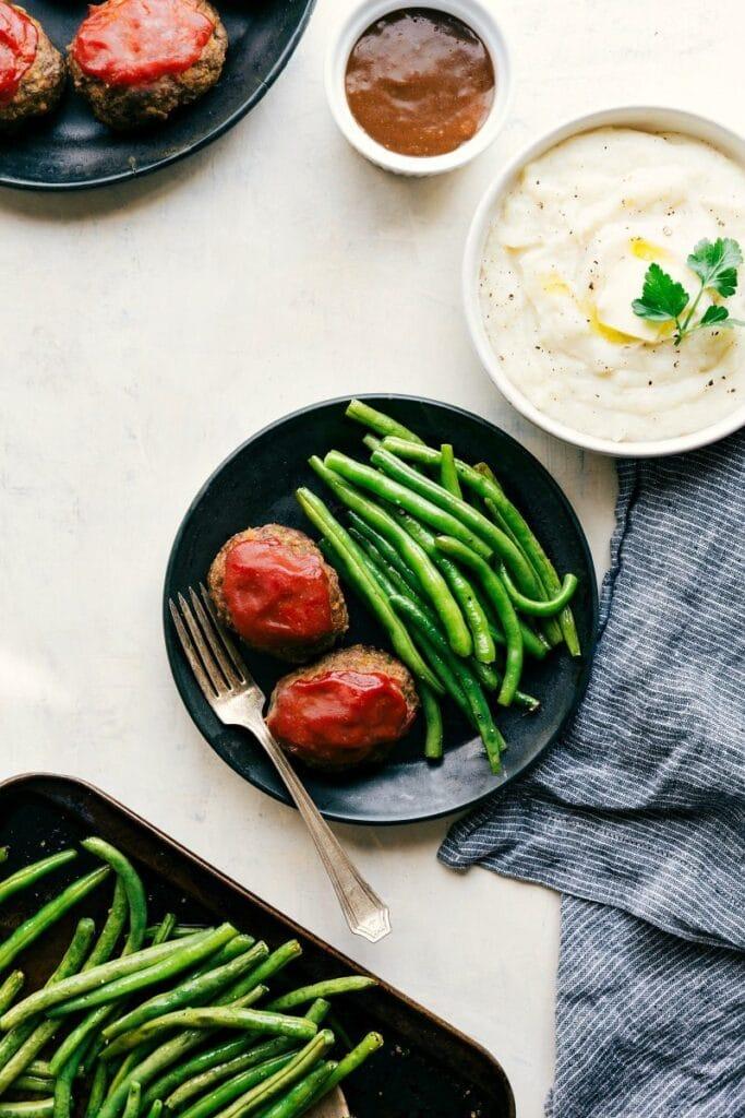 One Pan Meatloaf Dinner