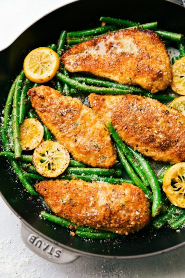 One Skillet Lemon Parmesan Chicken