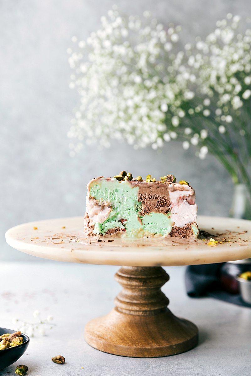 SPUMONI Terrine! Easy Ice Cream Bars made with 3 delicious flavors of ice cream! via chelseasmessyapron.com