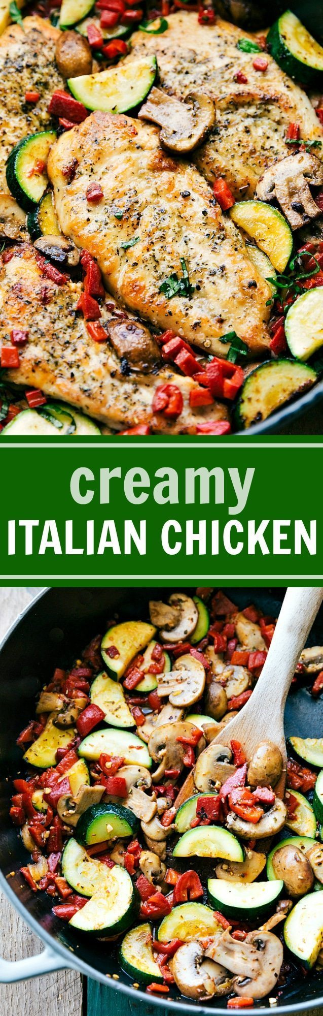 Easy Italian Chicken and Veggies is a delicious meal the whole family will love! This restaurant quality dish is one you'll want to make over and over again! via chelseasmessyapron.com