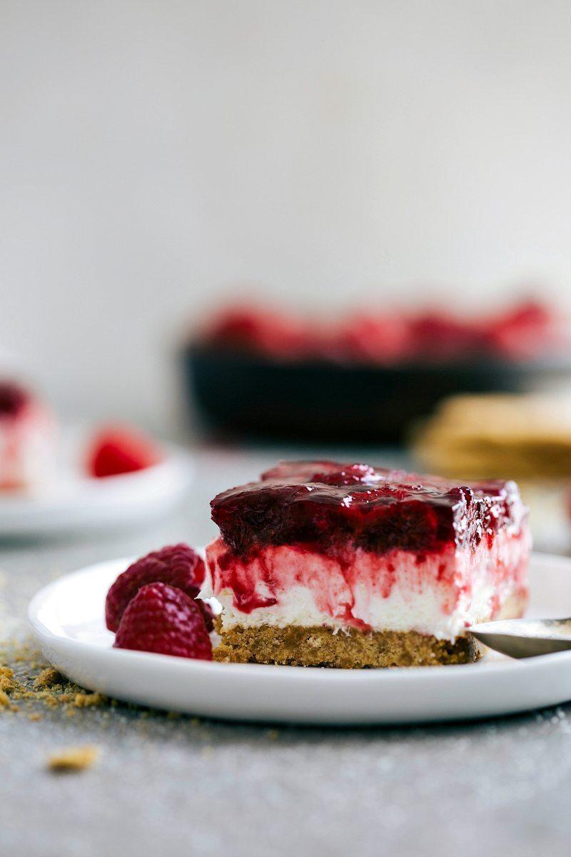 Raspberry Jell O Cheesecake Bars Chelseas Messy Apron