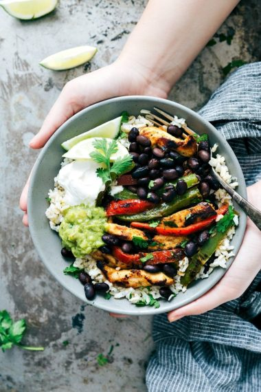 The BEST EVER Chicken Fajita Bowls