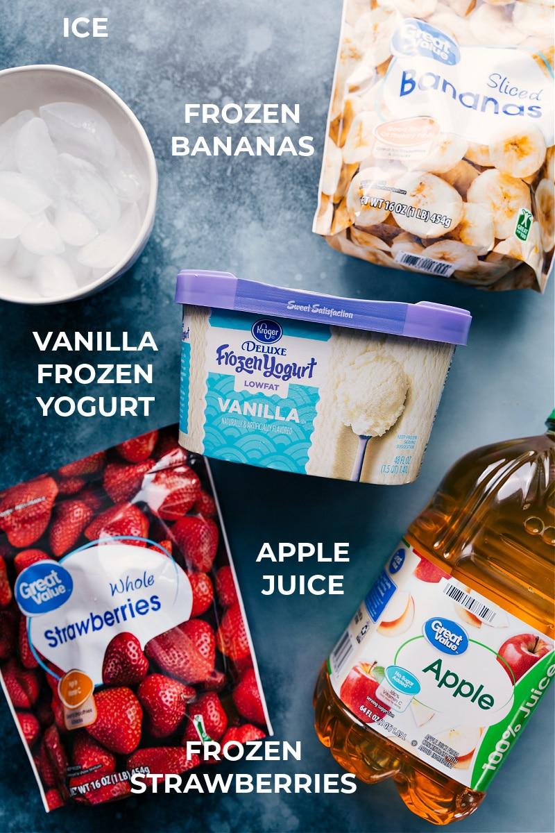 Ingredients in the Jamba Juice Strawberry Wild smoothie.