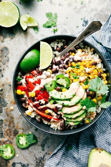 Healthy Mexican Street Corn Burrito Bowls