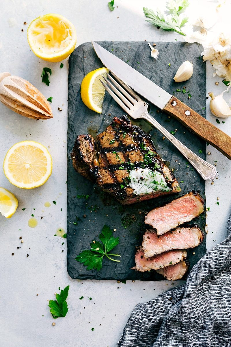 Tender steak that has been in steak marinade