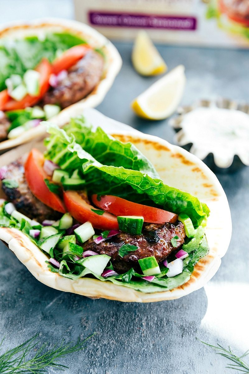 20-Minute HEALTHY Gyros with Tzatziki Sauce I chelseasmessyapron.com