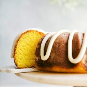 Lemon Bundt Cake with Lemon Buttercream Frosting