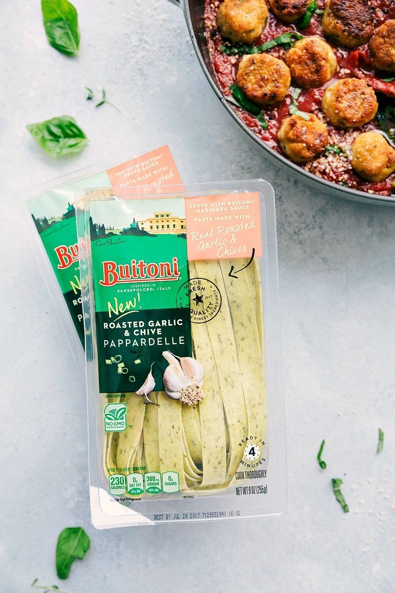 Chicken Parmesan Meatballs! via chelseasmessyapron.com